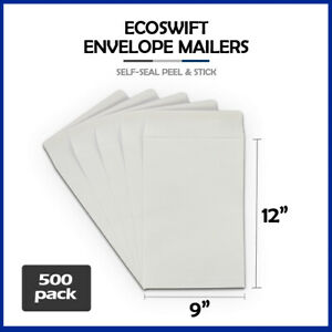 500 9x12 ecoswift Brand Self seal Catalog Mailing Kraft Paper Envelope