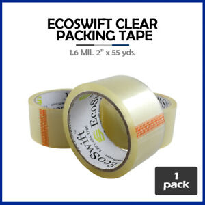 1 Roll ecoswift Brand Packing Tape Box Packaging 1 6mil 2 X 55 Yard 165 Ft