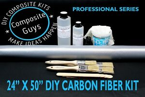 Carbon Fiber 24 X 36 Composites Laminating Skinning Wrapping Kit 2x2 Twill 3k