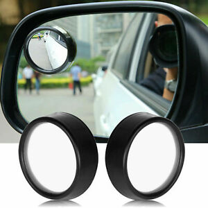 2x Round Wide Angle Blind Spot Mirror Convex Rear View Stick On For Truck Suvs