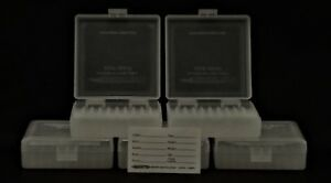 BERRY'S PLASTIC AMMO BOXES (5) CLEAR 100 Round 22 LONG RIFLE - FREE SHIPPING