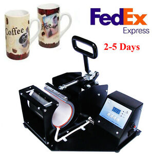 Double Digital Display Heat Press Transfer Sublimation Machine F Coffee Mug Cup