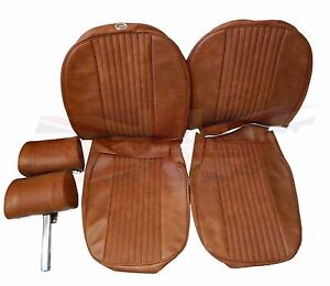 New Seat Covers Upholstery Mgb 1970 72 Made In Uk Headrests Autumn Leaf Sc111k