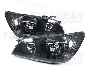 Black W Clear Headlights For Lexus Is300 2001 2005 Compatible With Factory Hid