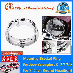 7 Inch Led Headlight Adapter Mounting Ring Bracket Head Lamp Daymaker Round Hot