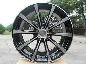 19 Staggered 8 5 9 5 Black Eclipse Drift Concave Style Wheels Rims 5x114 3