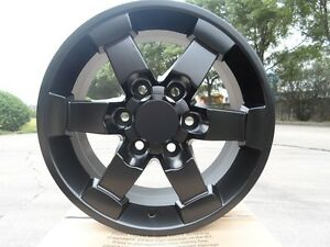 Set Of Four 16 Drift Style Matte Black Rims Wheels Fits 6 Lug Free Shipping