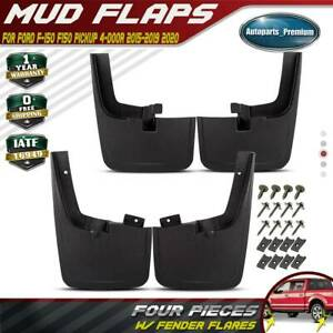 4x Rear Front Splash Guards Mud Flaps For Ford F 150 2015 2018 W Fender Flares