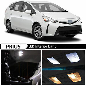 For 2004 2015 Toyota Prius White Interior License Plate Led Lights Package Kit