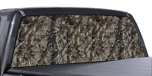 Fgd Truck Rear Window Wrap Oak Camouflage Hunting Perforated Vinyl Decal