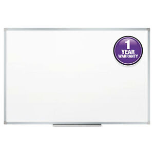 Mead Dry erase Board Melamine Surface 48 X 36 Silver Aluminum Mea85357