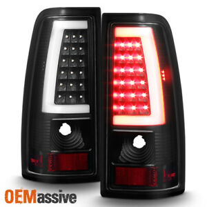 Fit 1999 2002 Chevy Siverado 1999 2006 Gmc Sierra Black Led Tube Tail Lights
