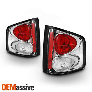 Fits 94 04 Chevy S10 Sonoma Pickup Truck Chrome Clear Tail Brake Lights Lamp Set