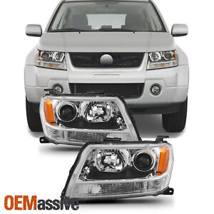 Fit 2006 2007 2008 Suzuki Grand Vitara Projector Headlights Lamps Replacement