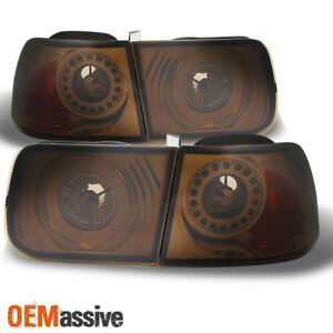 Fit 96 00 Honda Civic 2dr Coupe Smoked Led Tail Lights Brake Lamps Repalcement