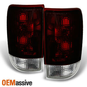 Fit 95 04 Chevy Blazer S10 Gmc Jimmy Envoy Dark Red Tail Lights Replacement