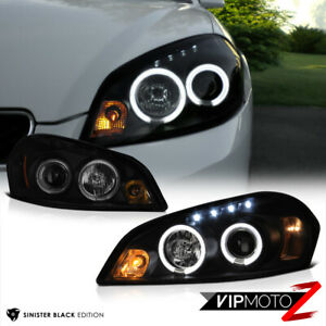 2006 2013 Chevy Impala sinister Black Angel Eye Led Projector Headlights Lamps
