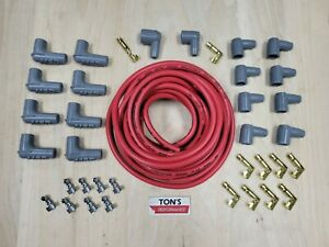 Universal Msd Super Conductor 8 5mm Red Spark Plug Wire Socket Right Angle Kit