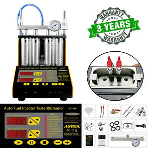 Autool Ct150 4 Cylinder Ultrasonic Fuel Injector Tester Cleaner Service Tool Us