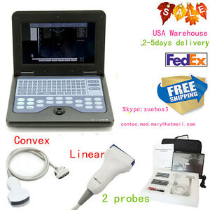 Us Seller ultrasound Scanner Laptop Machine Convex linear Cms600p2 2 Probes Ce