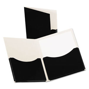 Oxford Double Stuff Gusseted 2 pocket Laminated Paper Folder Oxf54406