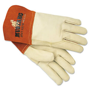 Mcr Safety Mustang Mig tig Leather Welding Gloves White russet Mpg4950l