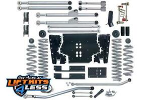 Rubicon Re7205 5 5 Ed Long Arm Lift Kit With Rear Track Bar For 97 06 Jeep Tj