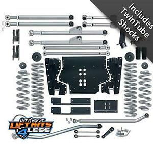 Rubicon Re7214t 4 5 Ed Long Arm Lift Kit With Twin Tube Shock For 97 06 Jeep Tj