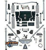 Rubicon Re7514 4 5 Ed Long Arm Lift Kit With Rear Tri Link For 97 06 Jeep Tj