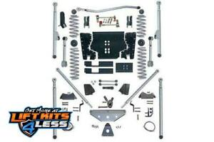 Rubicon Re7515 5 5 Ed Long Arm Lift Kit With Rear Tri Link For 97 06 Jeep Tj