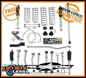 Rubicon Express Flex Susp Lift Kit Shocks 07 17 Jeep Wrangler Jk 2 Dr Re7128m