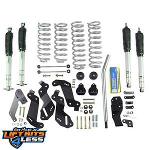 Rubicon Express Susp Lift Kit W Shocks 2007 17 Jeep Wrangler Jk 2 Door Re7125m