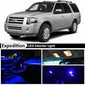 2003 2014 Ford Expedition Blue Interior License Plate Led Lights Package Kit