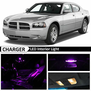 2006 2010 Dodge Charger Purple Interior License Plate Led Light Package Kit
