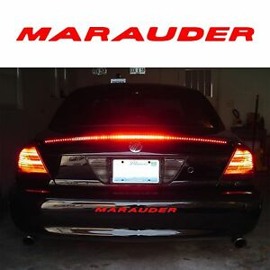 Gloss Red Rear Bumper Inserts For 2003 2004 Mercury Marauder New Free Shipping