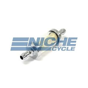 Universal 1 4 6mm Chrome 4 25 Glass Reusable Washable Inline Fuel Filter