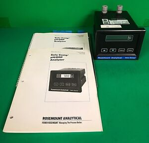 Rosemount Analytical Solu Comp Ph orp Analyzer Model Scl p 014 m2 With Manuals