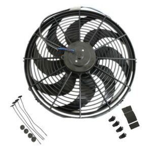 Dual 16 Electric Radiator Wide Curved Blade Fan 3000cfm Reversible