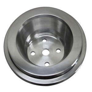 Aluminum Water Pump Pulley 2 Groove Long Water Pump For Bbc Chevy 396 427 454