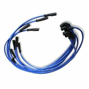 9 5mm Hei Spark Plug Wires Set 90 To Straight For Sbc Bbc 350 383 400 454 Blue