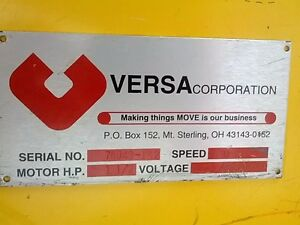 Versa Belt Conveyor And Roller Table