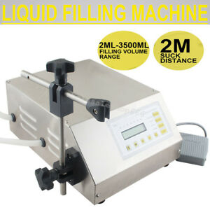 Semi automatic Digital Control Liquid Filling Filler Machine Self suck Pump