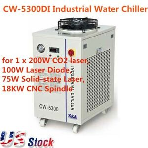 Cw 5300di Industrial Water Chiller Cooling System 200w Co2 Laser Engraver Usa