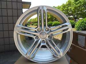 18 Hyper Silver Audi Drift Wheels Rims Vw Volkswagen Eos Cc R32 5x112 New