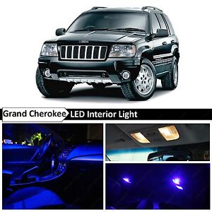 1999 2004 Jeep Grand Cherokee Blue Interior Map License Plate Led Lights Package