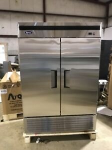 Atosa Mbf8503 2 Door Commercial Freezer Stainless Scratch And Dent Brand New
