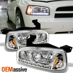 Fit 06 10 Dodge Charger Led Headlights W corner Signal Lamps L r Replacement