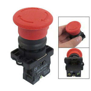 7 8 Large Red Mushroom Emergency Stop Push Button Switch 600v 10a Nc