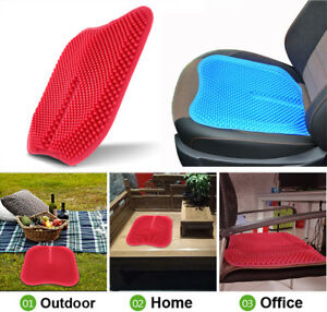 Car Seat Covers Cushions Massage High Memory Silicone Breathable Mesh Silica Gel
