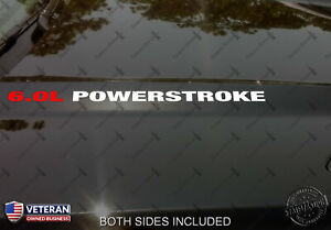 6 0l Powerstroke Hood Vinyl Decals 16 5 X 625 Fits Ford Super Duty Diesel